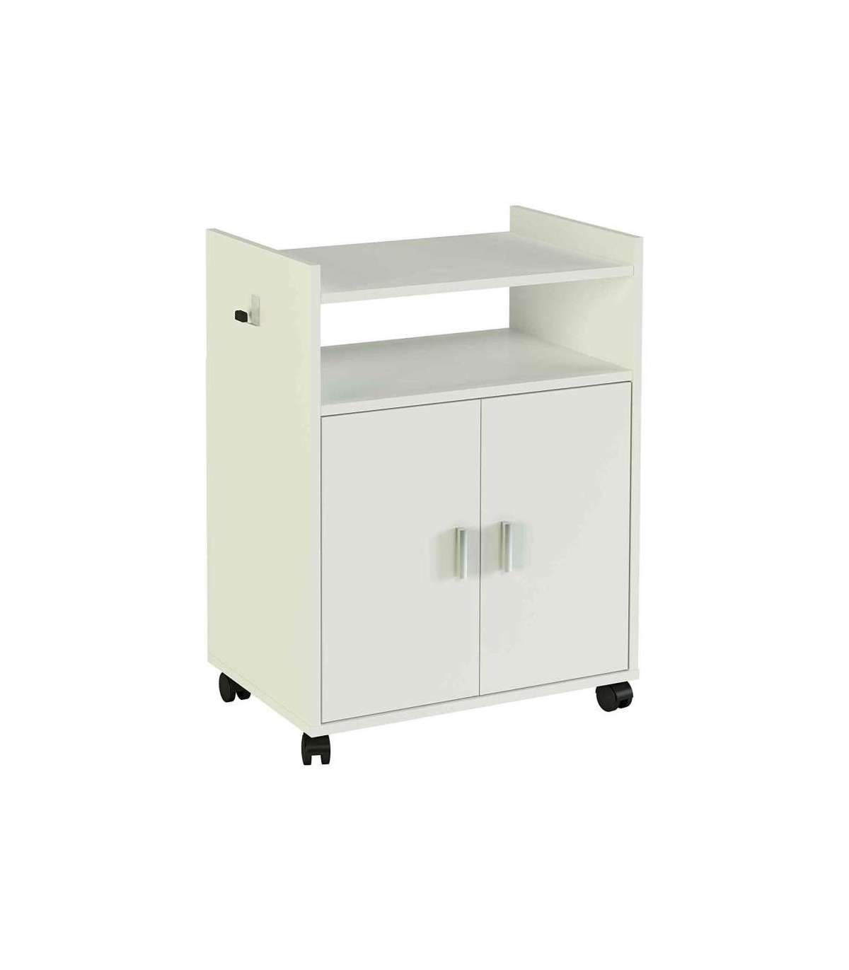 Mueble auxiliar microondas blanco - Auxiliares de