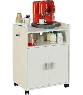 Mueble auxiliar microondas blancoMD BLOCK Auxiliares de cocina