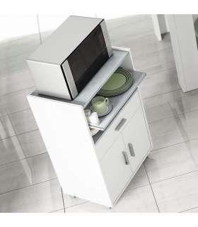 Mueble auxiliar para microondas un cajón y dos puertasFrs