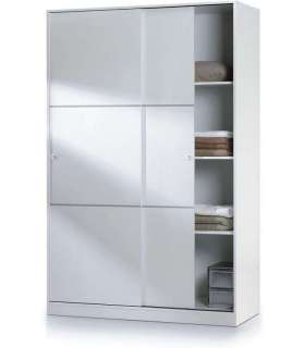 TWO WARDROBE WHITE SLIDING DOORS