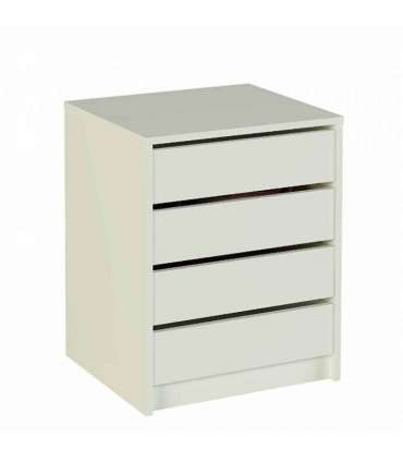 CHEST OF DRAWERS 4 DRAWERS WHITE