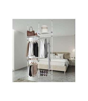 Vestidor doble para dormitorio.KitCloset Auxiliares dormitorio