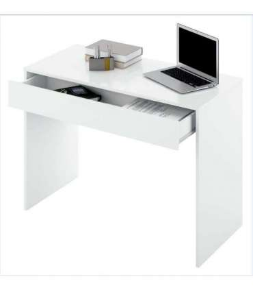 Mesa de despacho con 1 cajon Turin-M roble y blanco.Ptarch